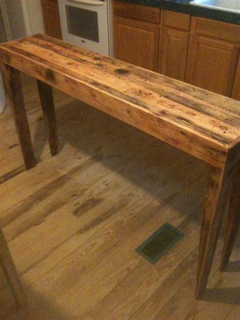 hand  rustic pine distressed sofa table  robert ritteman custom woodworking custommadecom