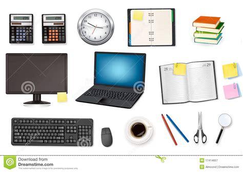 jpg fournitures de bureau ordinateur et fournitures de bureau vecteur photographie