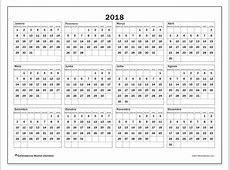 Calendários de 2018 SD