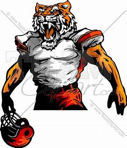 Tiger Football Player Vector Image - Sports Clipart