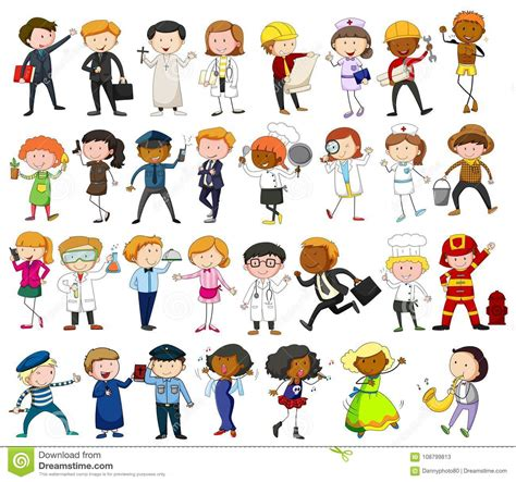 people   jobs  white background stock