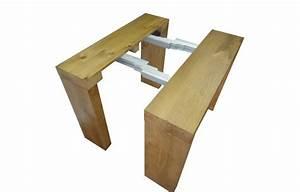 Table Console Extensible En Bois Massif 12 Couverts