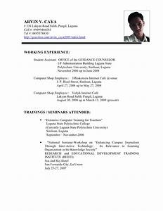 Working Student Resume Sample Resume Ideas