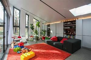 grande hauteur sous plafond et parement en brique d39une With maison hauteur sous plafond