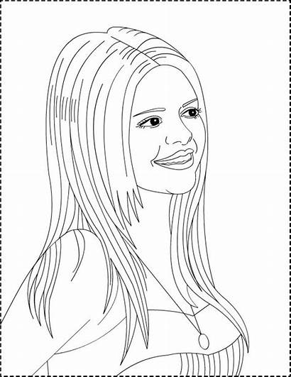 Coloring Selena Pages Gomez Printable Ariana Grande