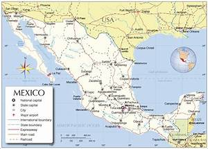 ... mexico and the surrounding countries administrative map of mexico Mexico