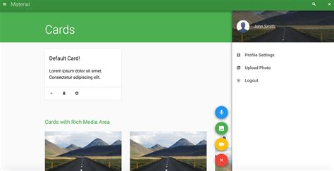 material template material design ui android template wowkeyword