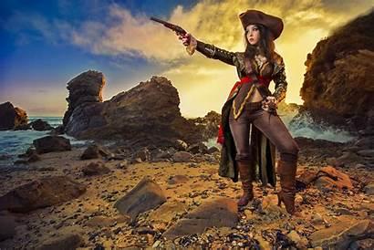 Cosplay Blackbeard Flag Monika Lee Creed Assassin