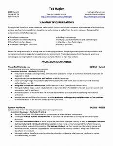 ted hagler microsoft sharepoint resume With sharepoint sample resume developers