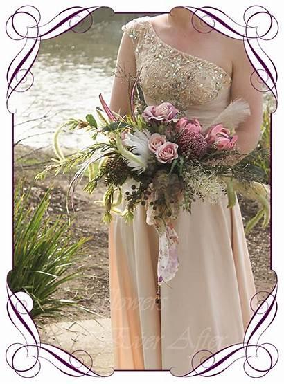 Mackenzie Bridal Bouquet Silk Flowers Artificial Rustic