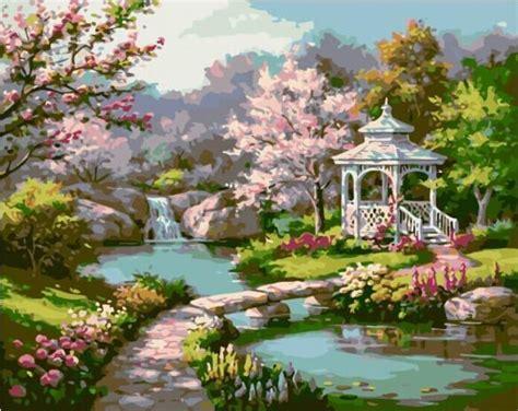 mahuaf  japanese garden set  painting  numbers