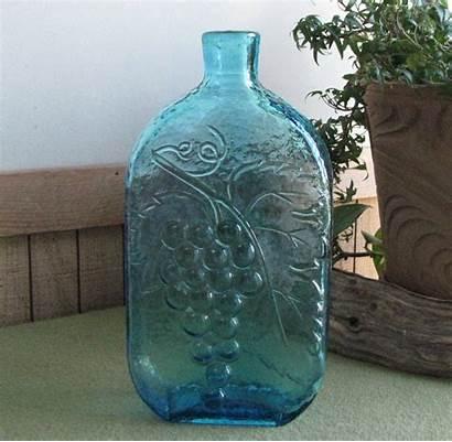 Bottle Liquor Azure Bottles Wine Grape Decanter