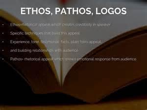 Rhetorical Appeals Ethos Pathos Logos