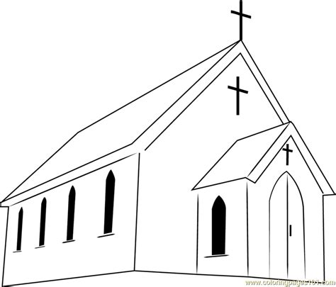 church coloring pages presbyterian church coloring page free church