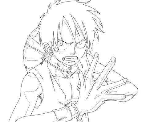 monkey  luffy  coloring crafty teenager