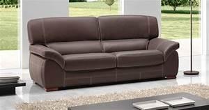 canape en cuir noir 3 places univers canape With tapis ethnique avec cdiscount canape cuir buffle