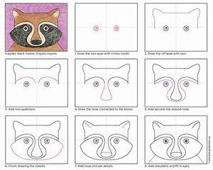 Draw a Raccoon Face - Art Projects for Kids