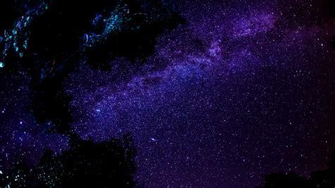 Full Hd Wallpaper Deep Space Cluster Of Stars Dark Violet
