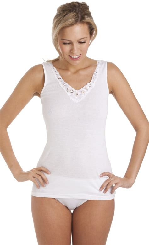 Older Ladies Cotton sleeveless Vest