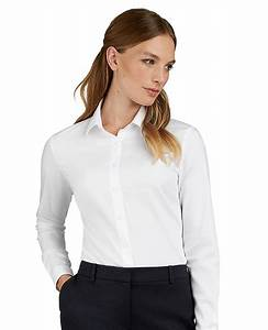 Fitted White Twill Shirt For Womens Button Cuff T M Lewin