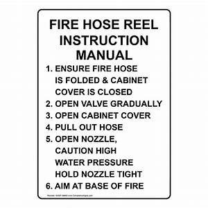 Fire Hose Reel Instruction Manual 1  Ensure Fire Sign Nhe