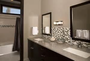 Bathroom Vanity with Tile Backsplash Design Ideas