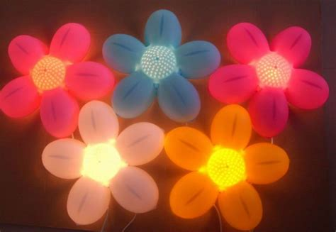 flower shaped craft wall lighting for bedroom in wall
