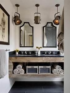 Salle De Bain Originale : le meuble sous lavabo 60 id es cr atives ~ Preciouscoupons.com Idées de Décoration