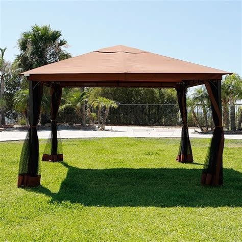 10 x 12 regency patio canopy gazebo mosquito net netting