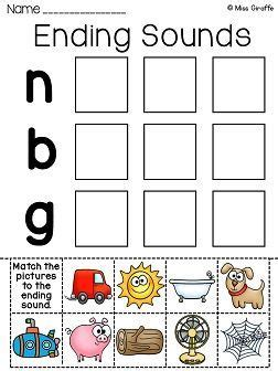 sounds worksheets cvc words    images