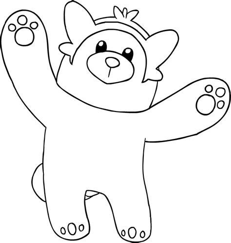 immagini di pokémon da disegnare drawing bewear of the pok 233 mon sun and moon coloring page