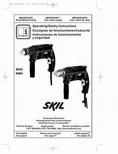 Skil 6443 Operating  Safety Instructions Manual Pdf