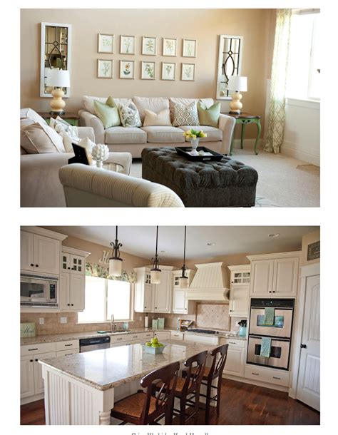 crisp khaki by kwal howell kitchen cabinets are painted