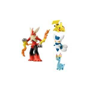tomy pokemon toy 4 pack figure mega blaziken meowstic pikachu amaura p