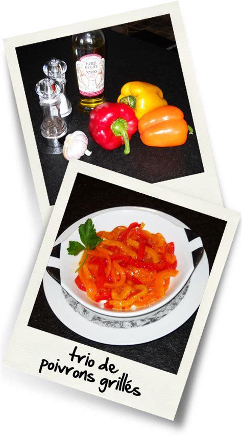 cuisine poivron trio de poivrons grilles christiane cuisine