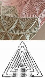 Textured Triangle Crochet Pattern Diagrams For Blankets