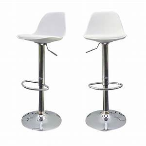Lot De 2 Tabourets De Bar Design Orlando De Drawerfr