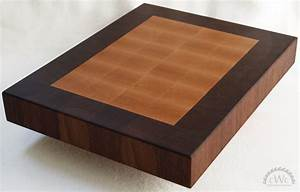 Hand Made Cutting Board - Solid Walnut And Maple End Grain