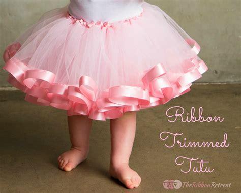 crochet baby headbands ribbon trimmed tutu tutorial the ribbon retreat