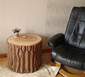Baumstamm Als Tisch : holztisch baumstamm baumstamm m bel von bohse ~ Watch28wear.com Haus und Dekorationen