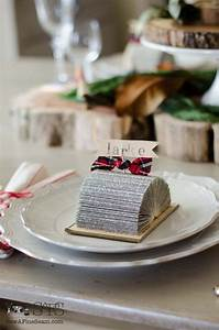 Place Card Holders Made Out of Old Books   Sew a Fine Seam
