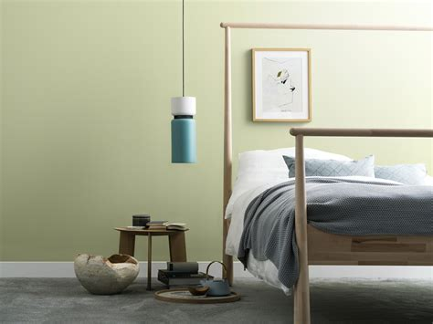 wandfarbe naturell birkengruen schoener wohnen kollektion