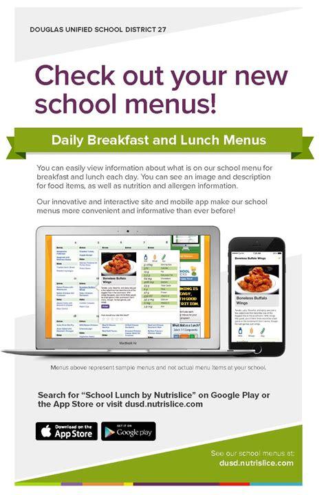 douglas high school digital school lunch menus nutrislice
