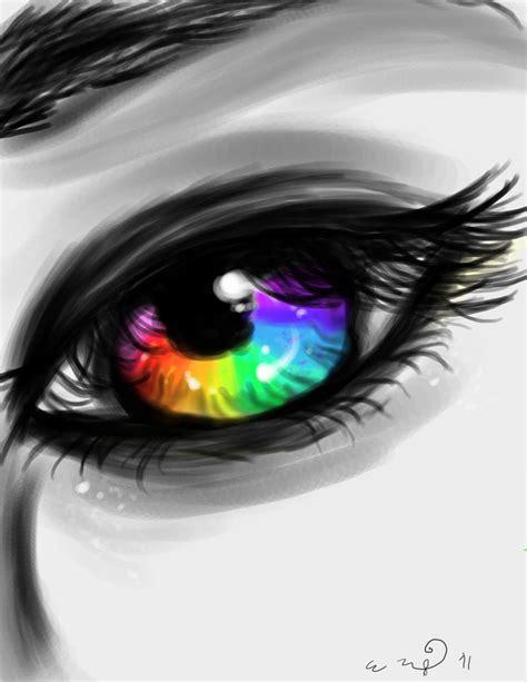 rainbow eye  nachever  deviantart