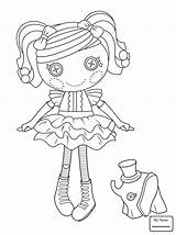 Lalaloopsy Coloring Doll Rag Peanut Dolls Button Printable Pretty Supercoloring Sheets Drawing Mermaid Paper sketch template