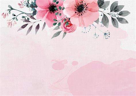 hand painted watercolor flower  autumn poster