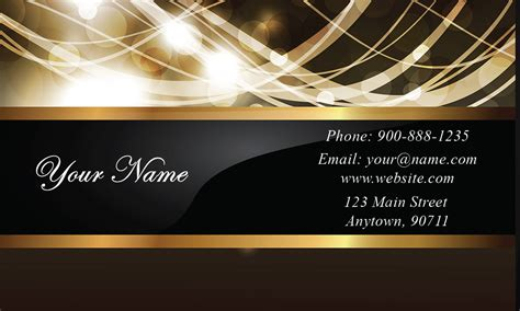 glossy effect gold  black event planner business card