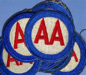 AA Army Shoulder Patches WWII