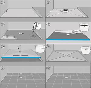 Xps tile backer boardshower trayshower baseshower niche for Installing a shower tray on concrete floor