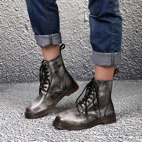 Winter Fashion Men Martin Boots Casual Leather Shoes
